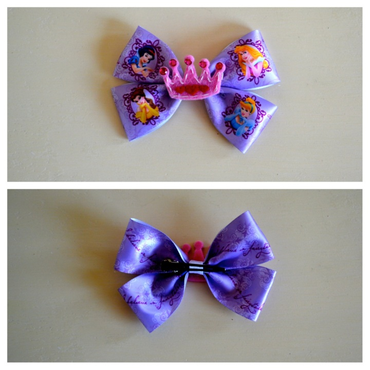 Disney princess crown bow
