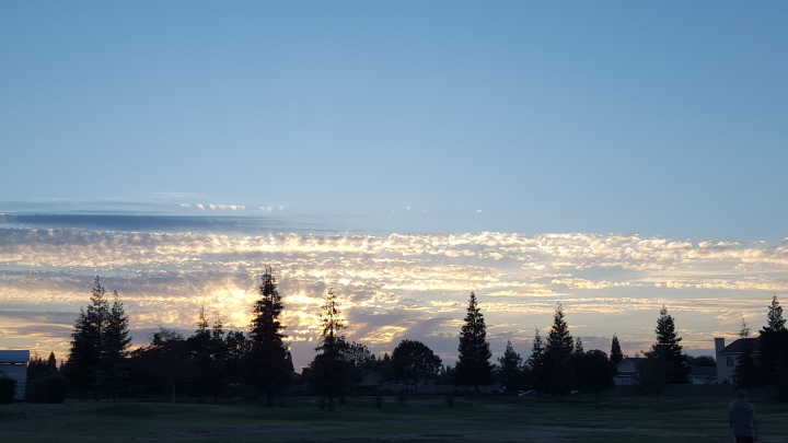 So random but this photo as taken while hubby was practicing throwing his new boomerang, the sky was beautiful!